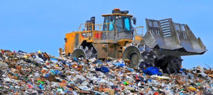 truck at landfill