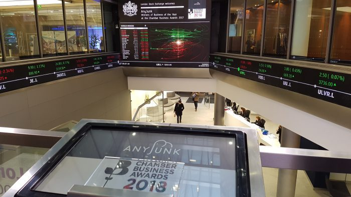 AnyJunk Opens the London Stock Exchange
