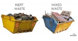 comparison of inert waste and mixed waste in skips