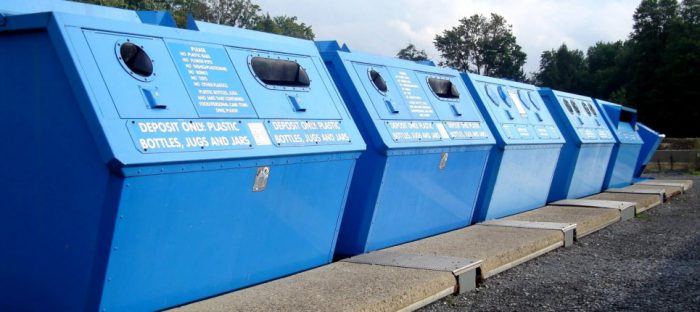 local recycling centre bins
