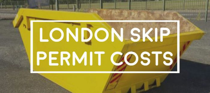 london skip permit costs and parking suspension fees by each borough council
