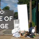 how to dispose of a fridge responsibly full extensive guide picture of a fridge on side of road kerbside with general rubbish on ground next to fridge