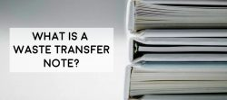image of stacked files, what is a waste transfer note, who needs them and when is it required, where do you put them and who makes it