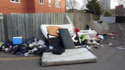 mattress household items flytipping on road increase in flytippers because of the coronavirus covid-19